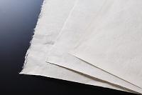 和紙(左から細川紙, 本美濃紙, 石州半紙)