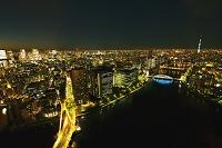 東京都 中央大橋と東京スカイツリー