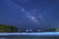静岡県 弓ヶ浜と天の川