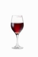 口紅の痕がついているワイングラス