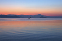 滋賀県 琵琶湖 朝焼け