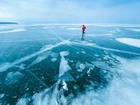 アメリカ合衆国 凍結した湖