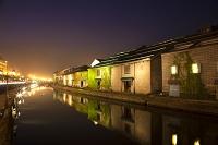 北海道 小樽運河と倉庫群 夜景