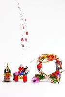 小幡土人形馬乗り童子と正月飾り