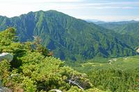 長野県 西穂山稜から上高地 大正池と霞沢岳