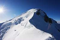フランス モンブランと登山者