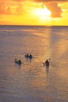 沖縄県 名蔵湾の夕日