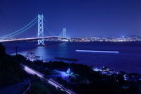 兵庫県 明石海峡大橋の夜景