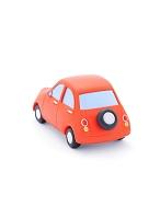 赤い粘土の車