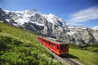 スイス 登山電車とユングフラフヨッホ