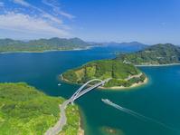 愛媛県 とびしま海道 中の瀬戸大橋と岡村大橋