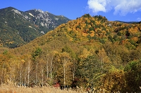 山梨県 紅葉と金峰山