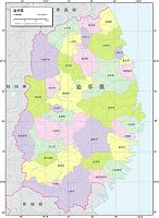 岩手県 行政区分図