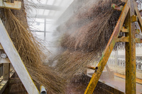 大分県 竹製温泉冷却装置