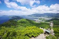 香川県 碁石山より望む内海湾と坂手湾