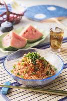 豚キムチ素麺