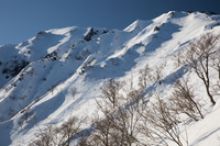 鳥取県 伯耆大山 大山登山道より大山北壁