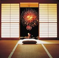 花火の見える和室