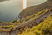 ギリシア エーゲ海 サントリーニ島 フィラ ロバタクシー