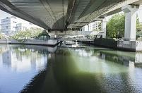 神奈川県 大岡川と中村川の分岐点