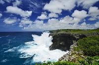 沖縄県 荒波の七又海岸