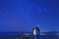 石川県 見附島と星空