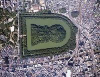 仁徳天皇陵(大仙古墳) 空撮 10月 大阪府 堺市