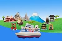 船で日本観光