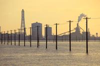 千葉県 海に続く電柱