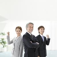 元気な経営者とビジネスチーム