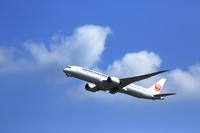 成田空港附近 日本航空 ジェット機
