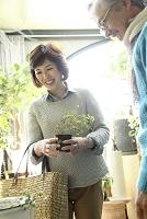 観葉植物を買う日本人夫婦