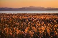 福島県 猪苗代湖の夕景