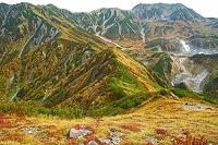 富山県 奥大日岳から別山左と立山右の紅葉
