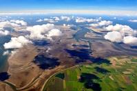 ドイツ ホッゲ島とペルボルム島の間の潮路と湿原 ワッデン海