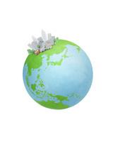 地球とビル