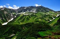 富山県 立山町 立山(雄山・大汝山・富士の折立)と山崎カール...