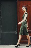 レトロスタイルのファッション