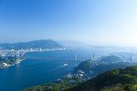 山口県 関門橋と関門海峡