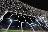サッカースタジアムのゴールネット