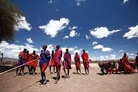 アフリカ マサイの集落