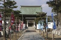 兵庫県 大石神社山門と四十七士の石像
