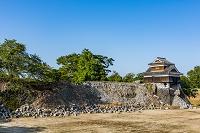 熊本県 地震で壊れた熊本城の成亥櫓