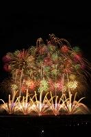 新潟県 右岸有料席から長岡まつり大花火大会 天地人花火