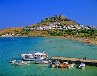 ギリシャ ロードス島 アクロポリスと船着き場