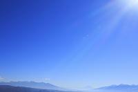 長野県 塩尻市 高ボッチ高原 富士山と南アルプスと八ヶ岳