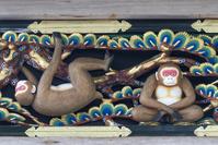 栃木県 日光東照宮 猿の彫刻 恋愛中の猿(平成の大修理完成後)