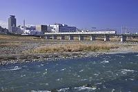 多摩川と京王線 東京都 府中市