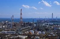 三重県 四日市港ポートビルよりコンビナート 中京工業地帯