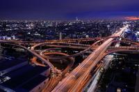 大阪府 東大阪ジャンクションの夜景